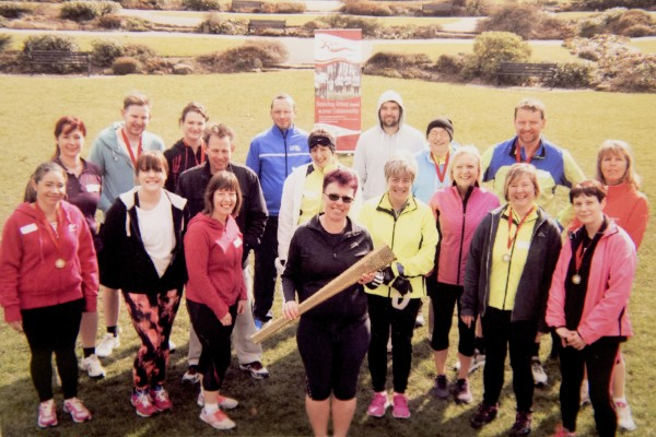 Asda Nuneaton community champion Denise Shannon with her running club