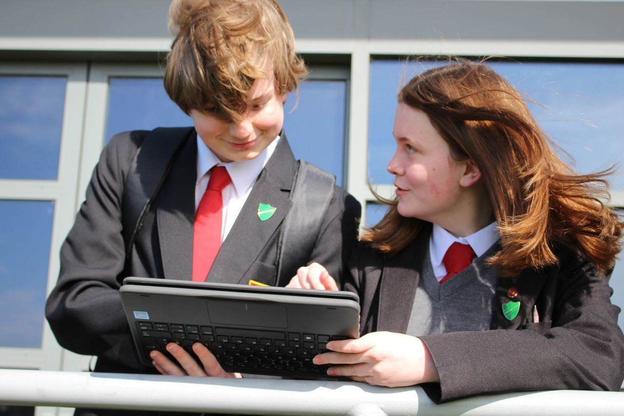 Meols Cop High School laptop donation | Asda Southport
