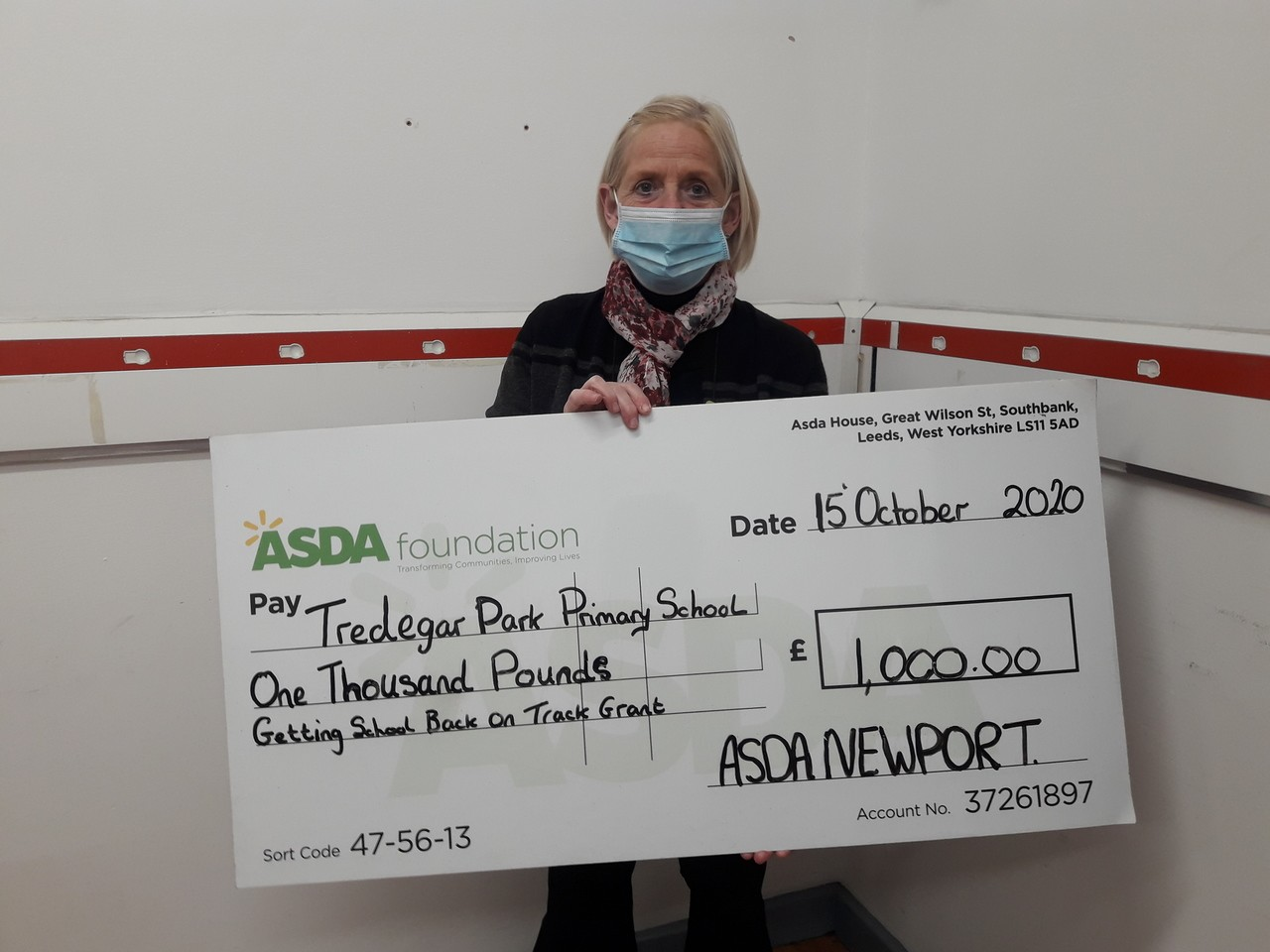 £1,000 for primary school   Asda Newport