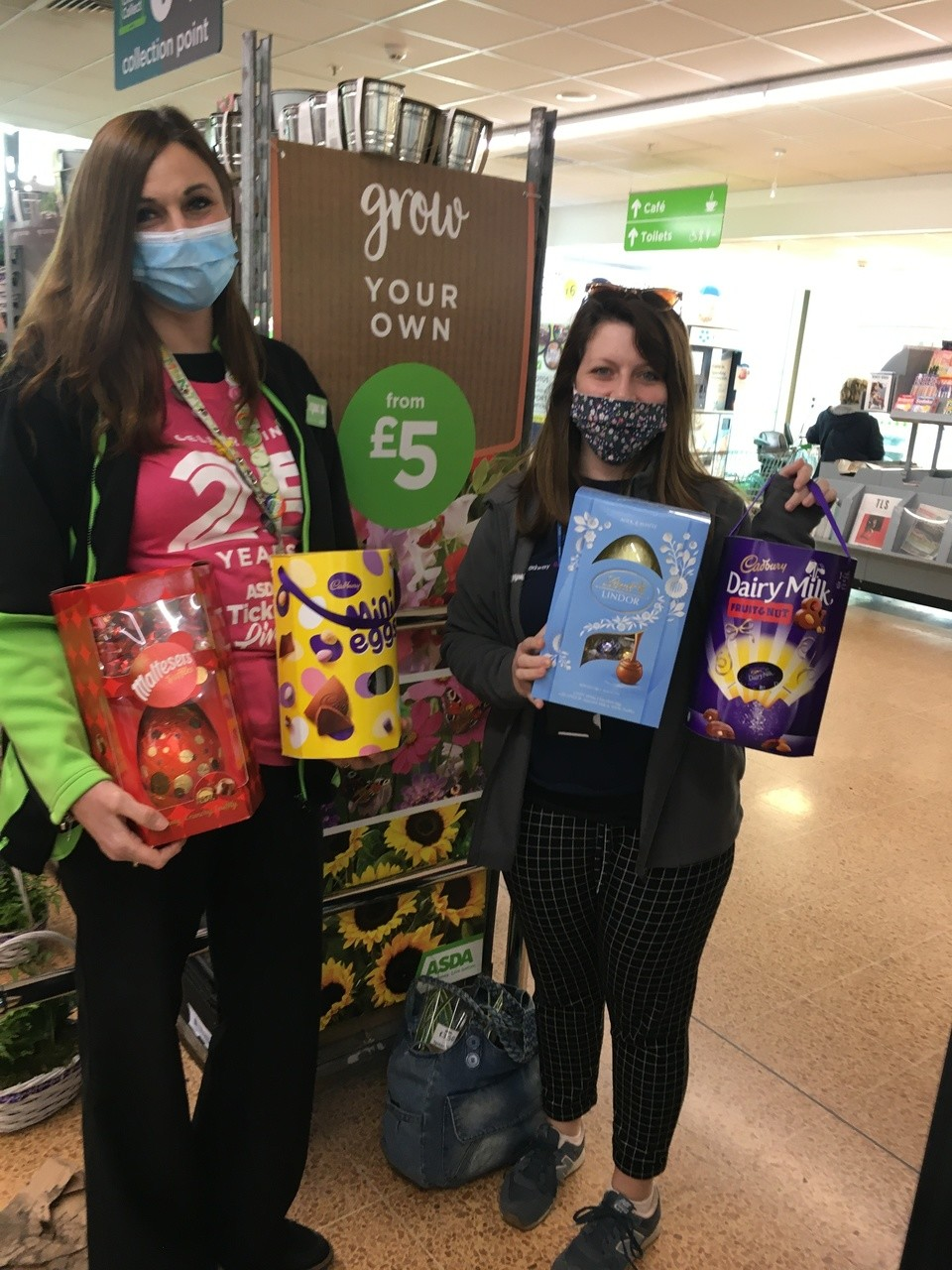 Easter egg donations for Headway Bristol | Asda Longwell Green