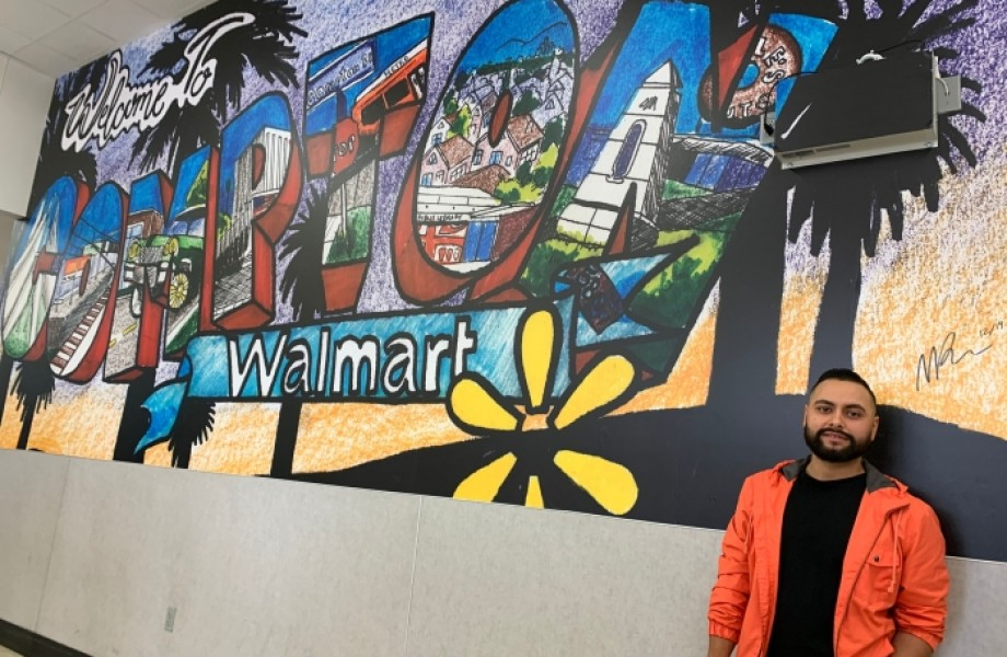 Walmart Mural in Compton