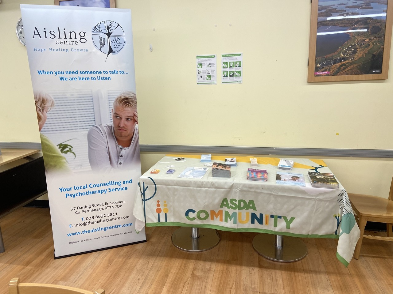 Suicide awareness day!Information stand for our Asda Enniskillen Colleagues. | Asda Enniskillen