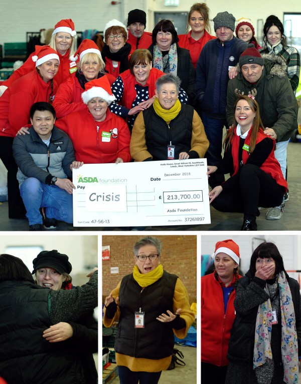 Asda Foundation donate £213,700 to the Crisis at Christmas homeless campaign