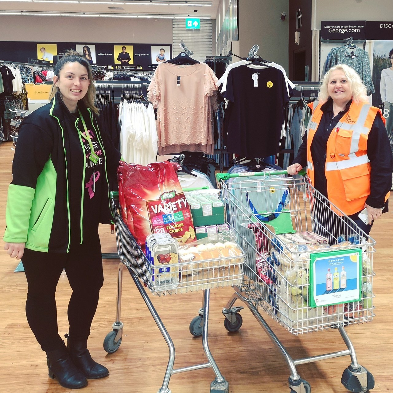 Donations to Swindon Night Kitchen | Asda West Swindon