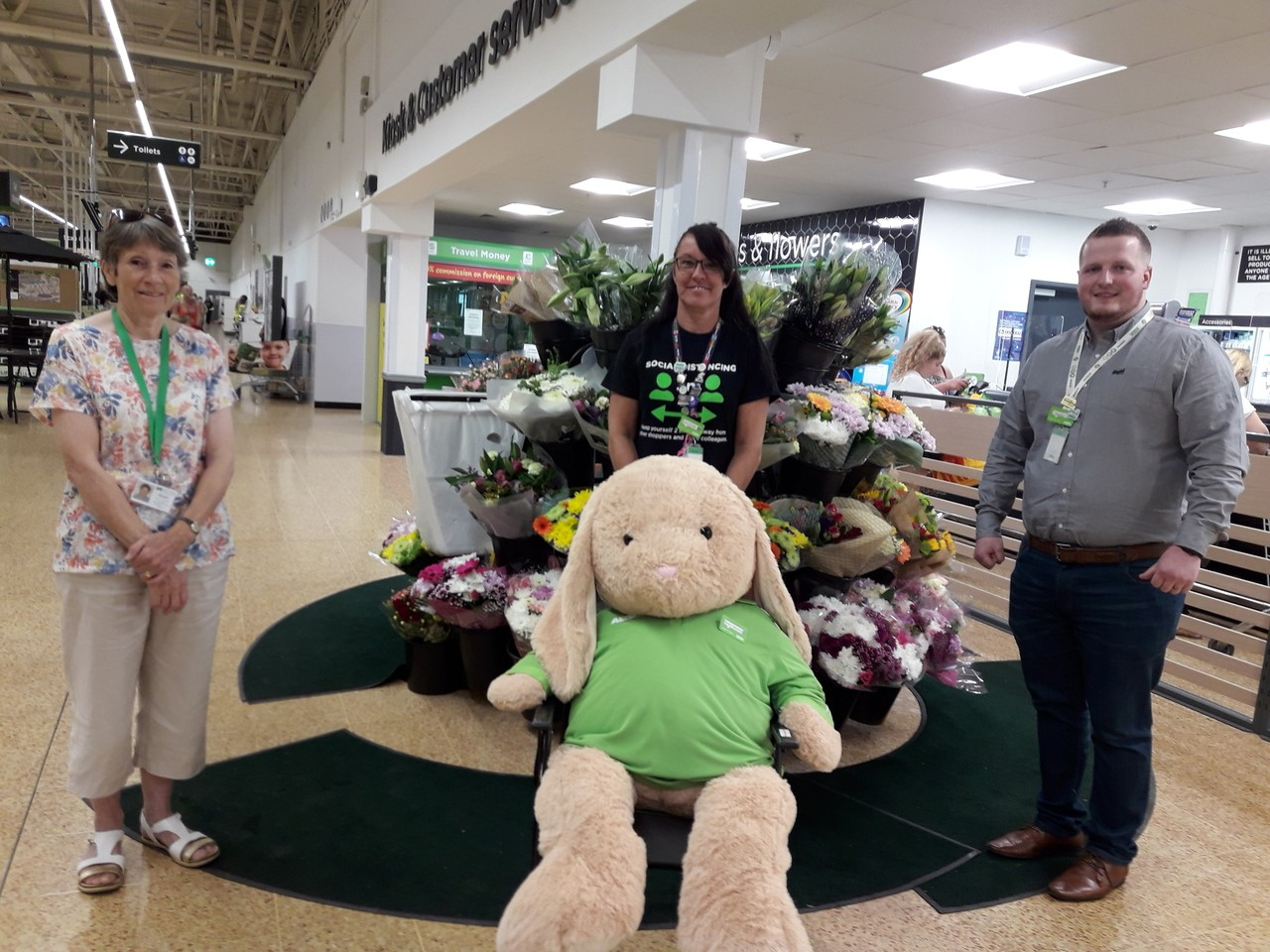 Bunny goes to Children's Hospice South West | Asda Taunton