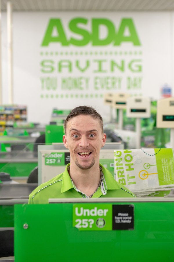 Tom Hines is a firm favourite with customers and colleagues at Asda Eastbourne