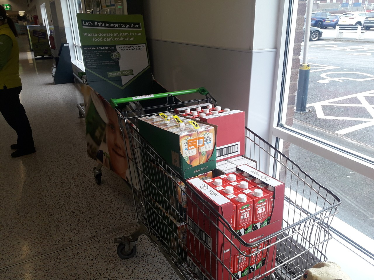 Helping to support our local food bank | Asda Barrow