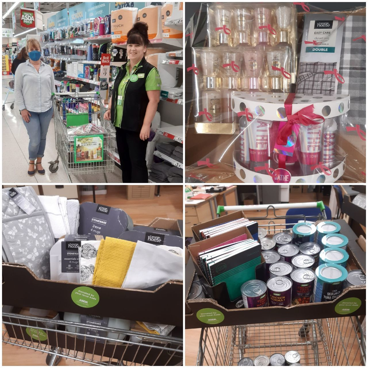 Donation to local women's refuge | Asda Ipswich Stoke Park