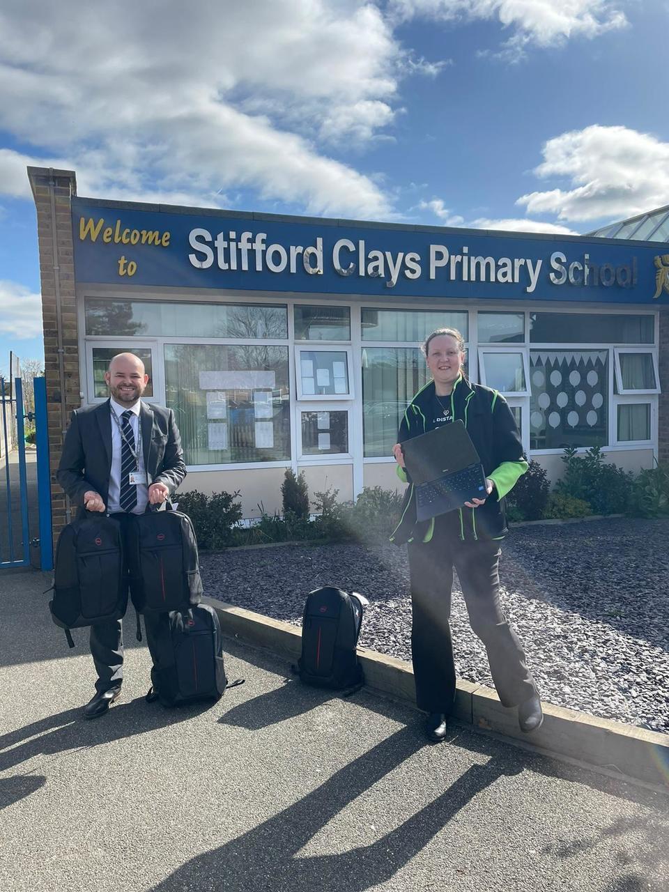 School laptop donation | Asda Tilbury