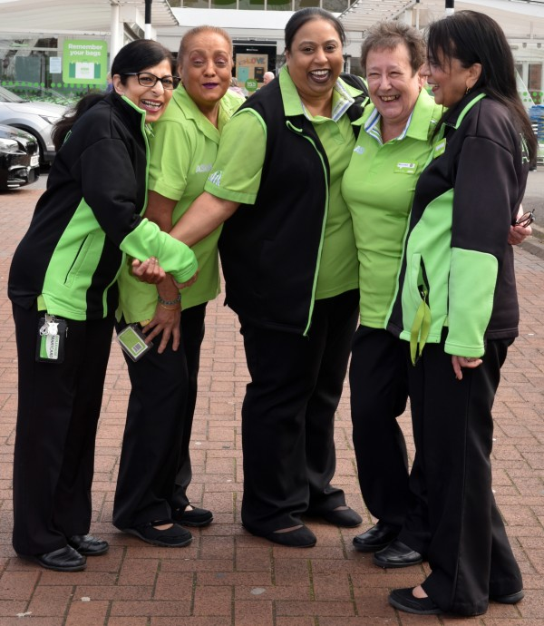 Close Asda colleagues at our Wolverhampton store ahead of Mother's Day