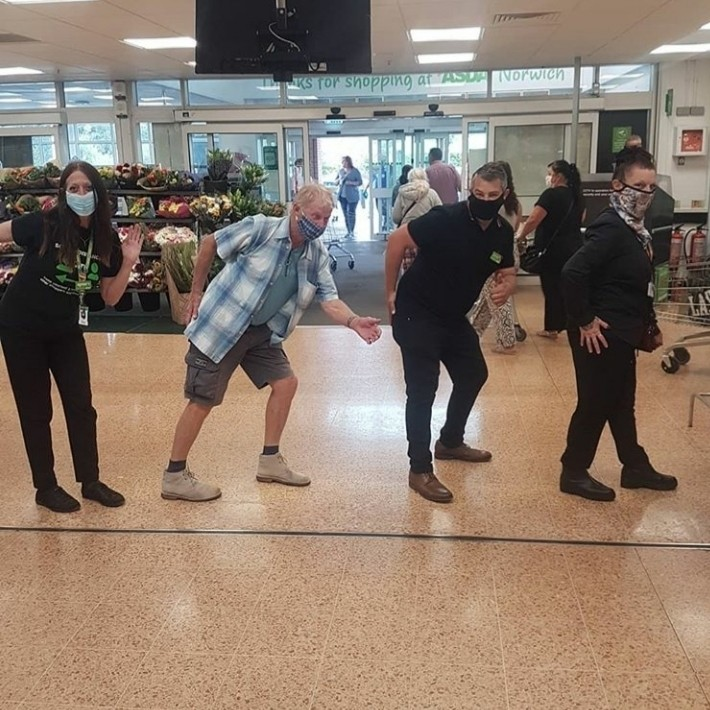 The Asda Tap! We even got some shoppers to join in 🤗   Asda Norwich