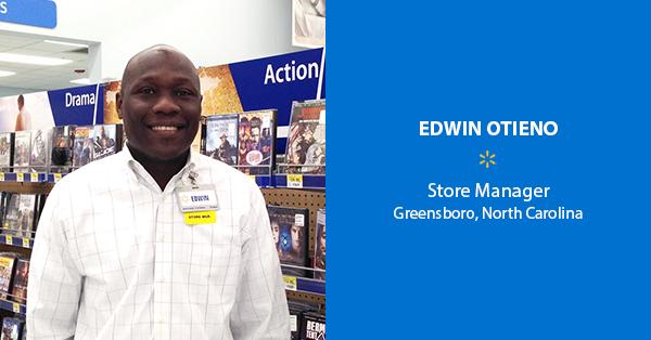 Edwin Otieno, Store Manager – Greensboro, North Carolina