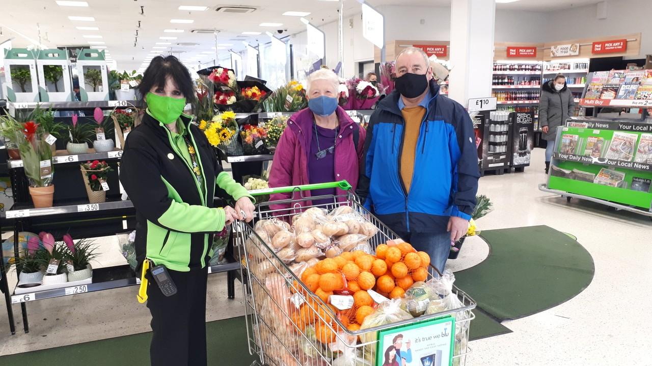 Foodbank donation   Asda Huddersfield
