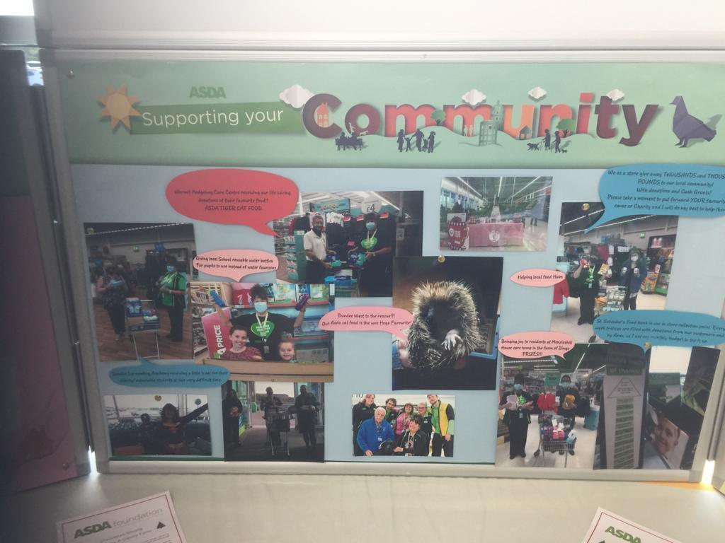 Dundee West has helped so many community projects through Covid 19 | Asda Dundee West
