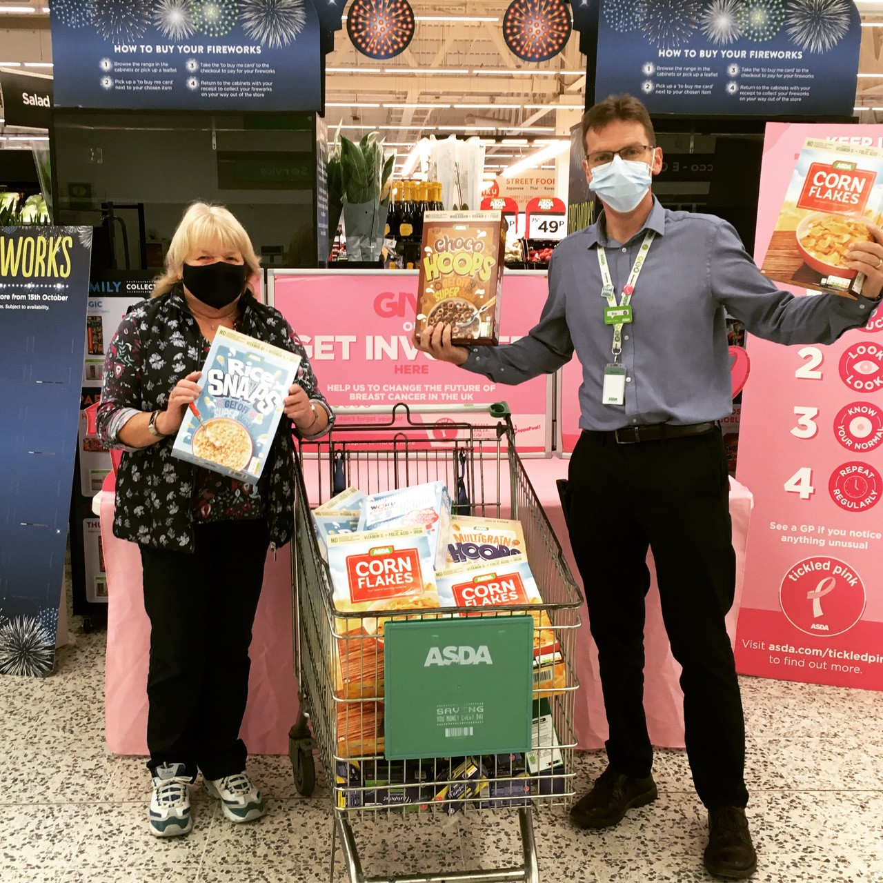 Our first donation to Gover Community Larder | Asda St Austell