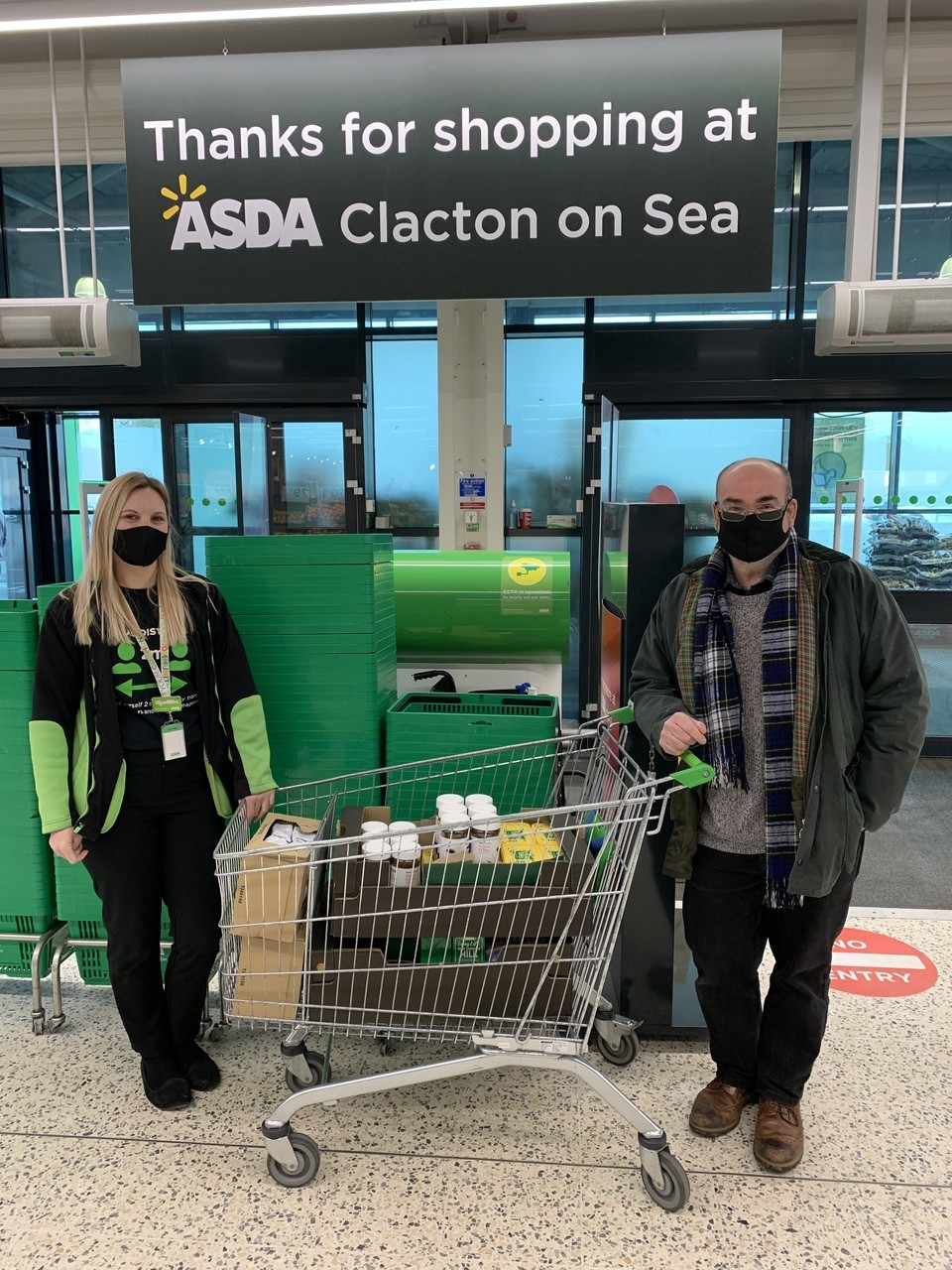 Clacton Food Cycle donation | Asda Clacton-on-Sea