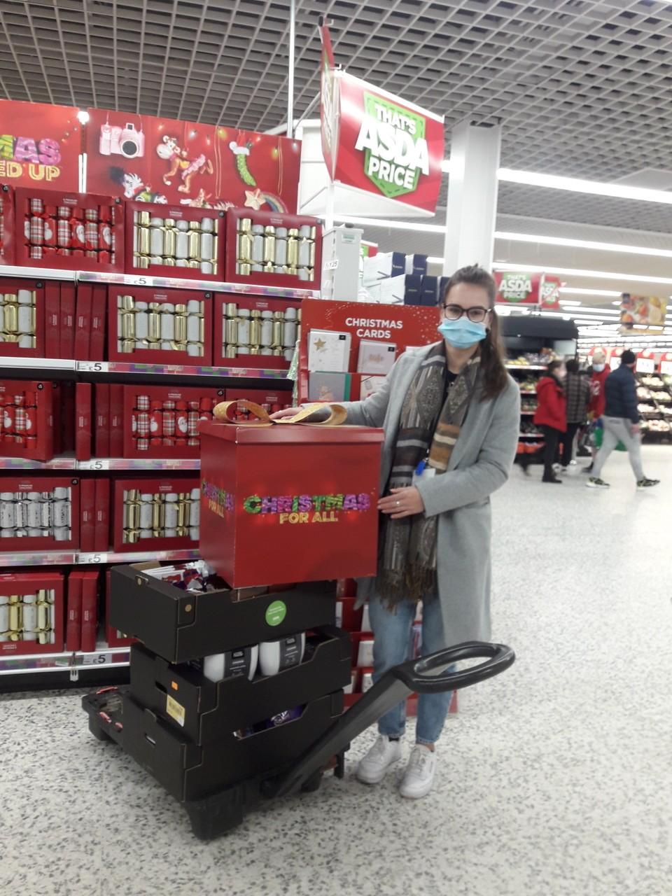 Christmas donations forSt Paul's Homeless Hostel | Asda Bournemouth