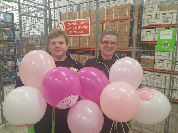 Asda Llangefni has raised £3,000 for Tickled Pink