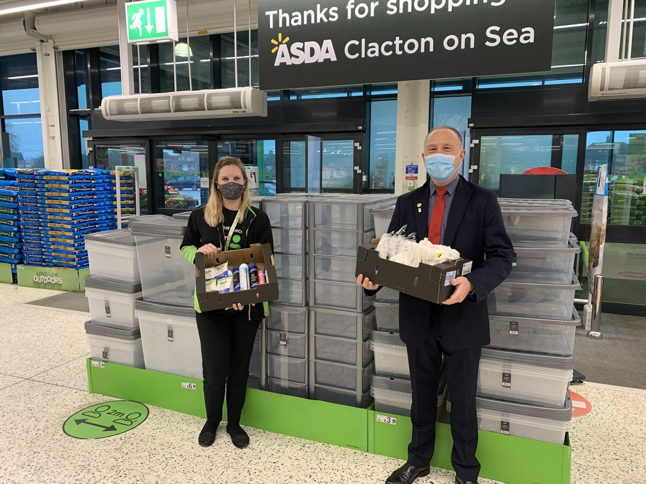 Donation to Warm Hearts for Cold Hands | Asda Clacton-on-Sea