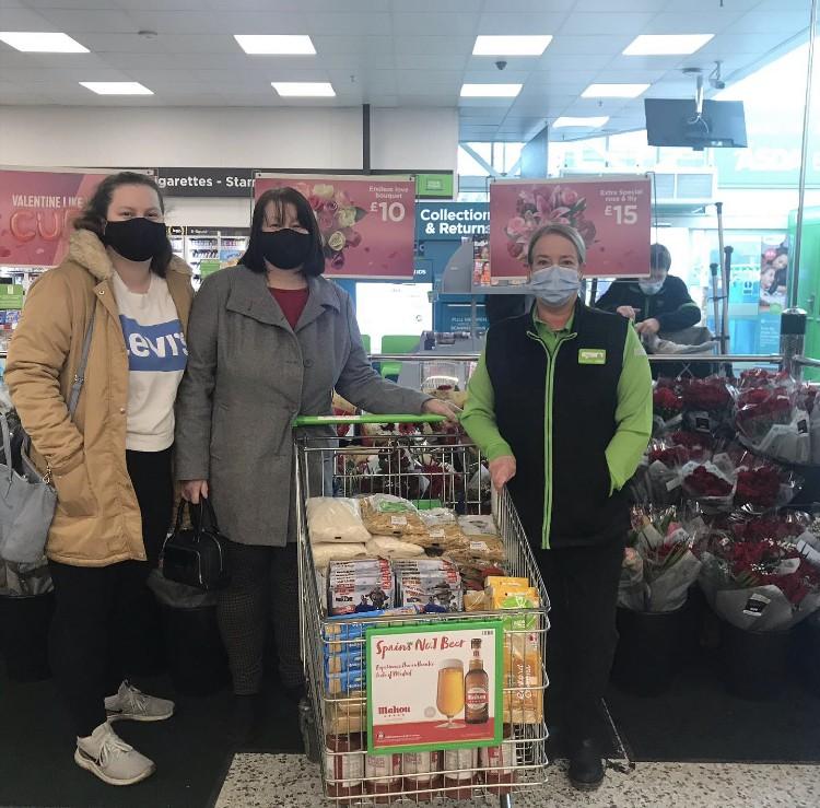 Food parcel donation | Asda Blackburn