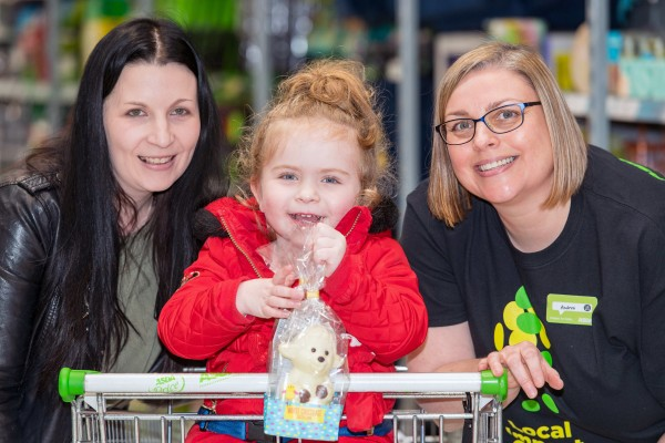 Three year old Ava Melrose loves visiting Asda Forfar