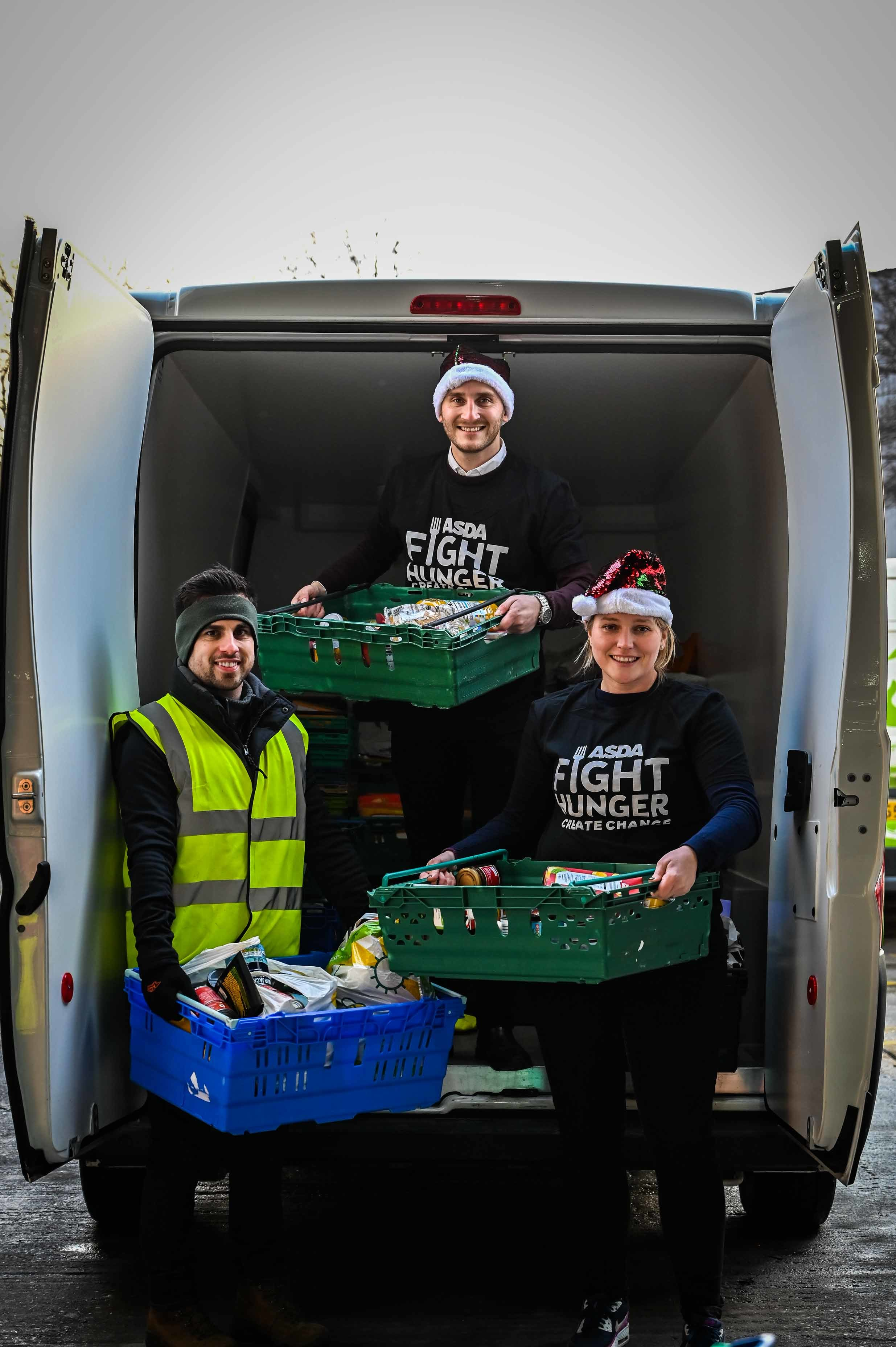 Asda arranged a celebration event to thank FareShare and Trussell Trust for helping people in need this Christmas