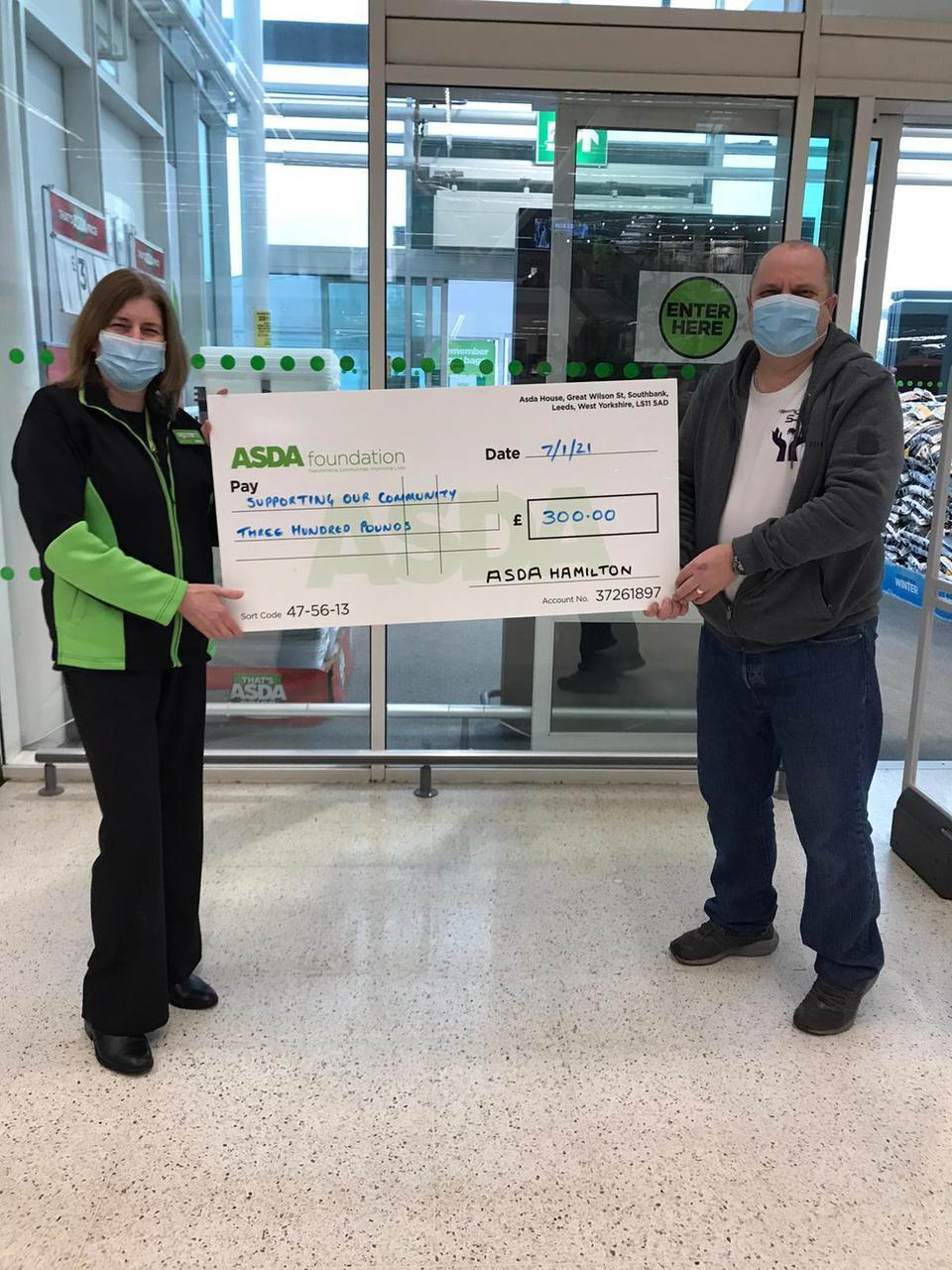 Grant to Supporting our Community | Asda Hamilton