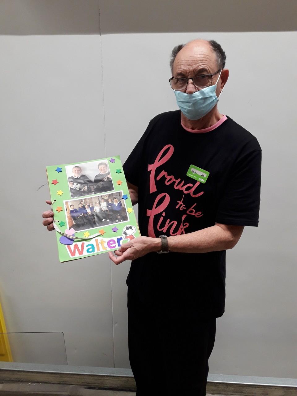 Pupils give 74th birthday surprise to Barnstaple community champion Walter | Asda Barnstaple