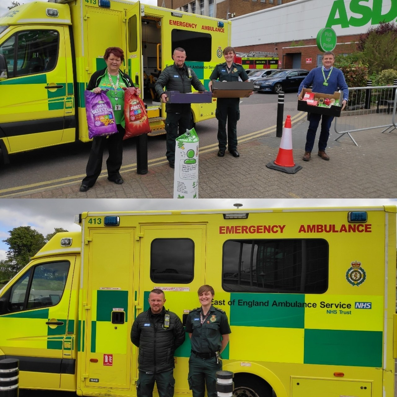 Donation to ambulance crew | Asda Watford