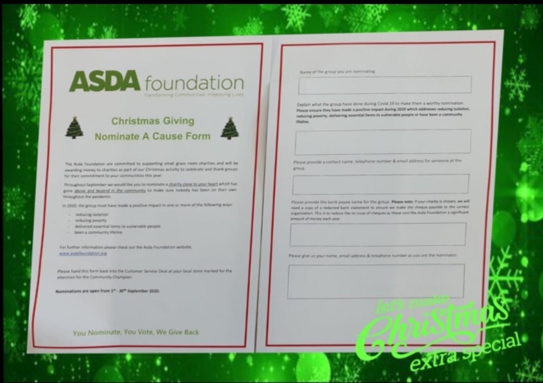Christmas giving grant | Asda Kilkeel