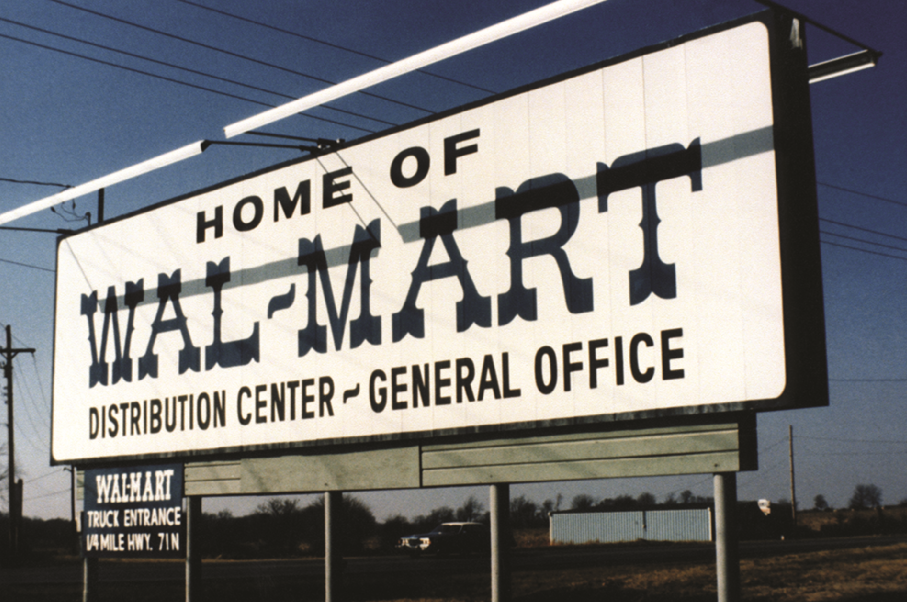 Walmart Home Office 1970s sign