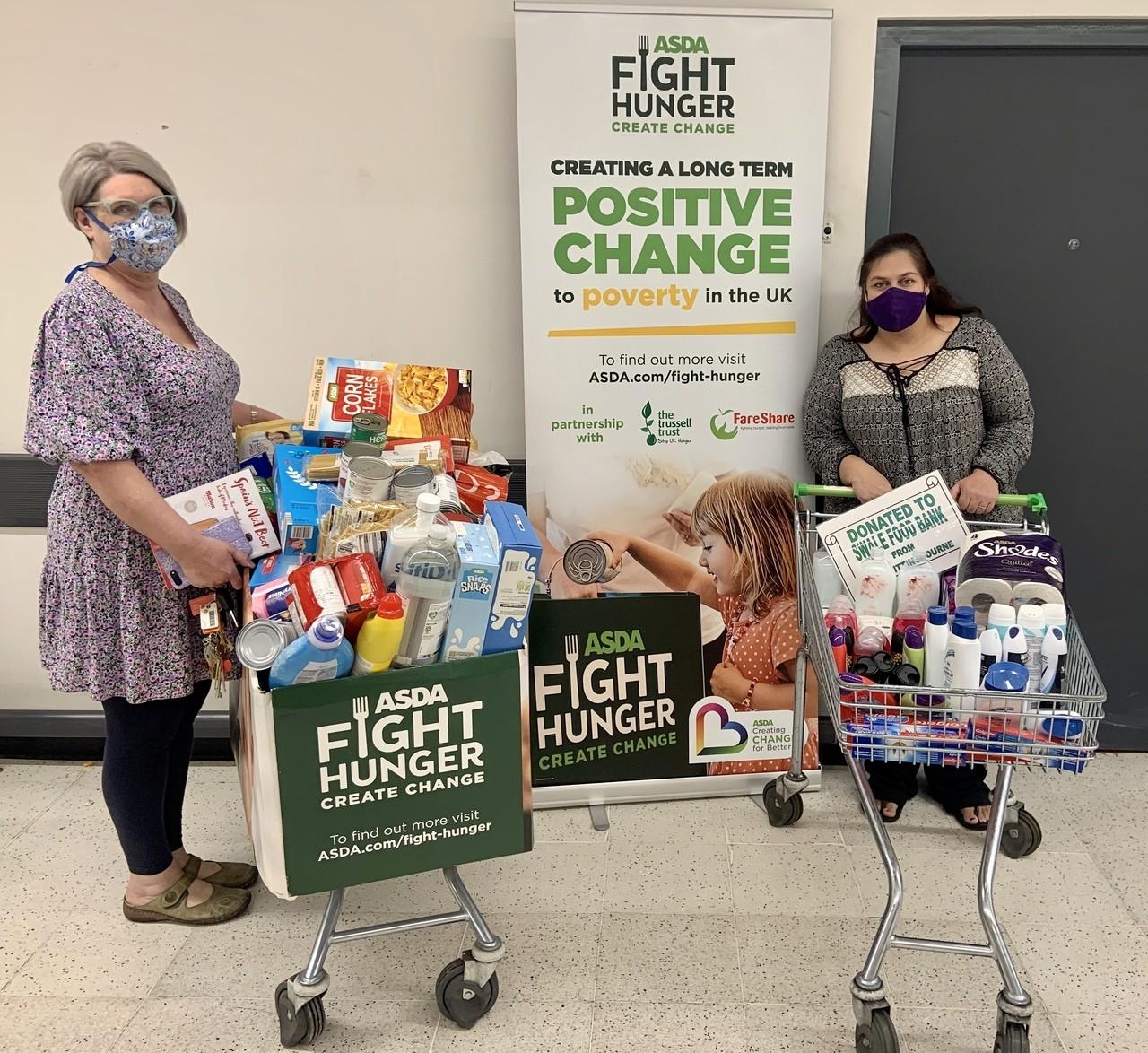 Swale Foodbank donation | Asda Sittingbourne