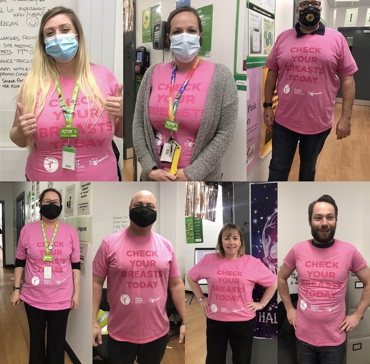 Asda Frome management team support the Tickled Pink campaign | Asda Frome