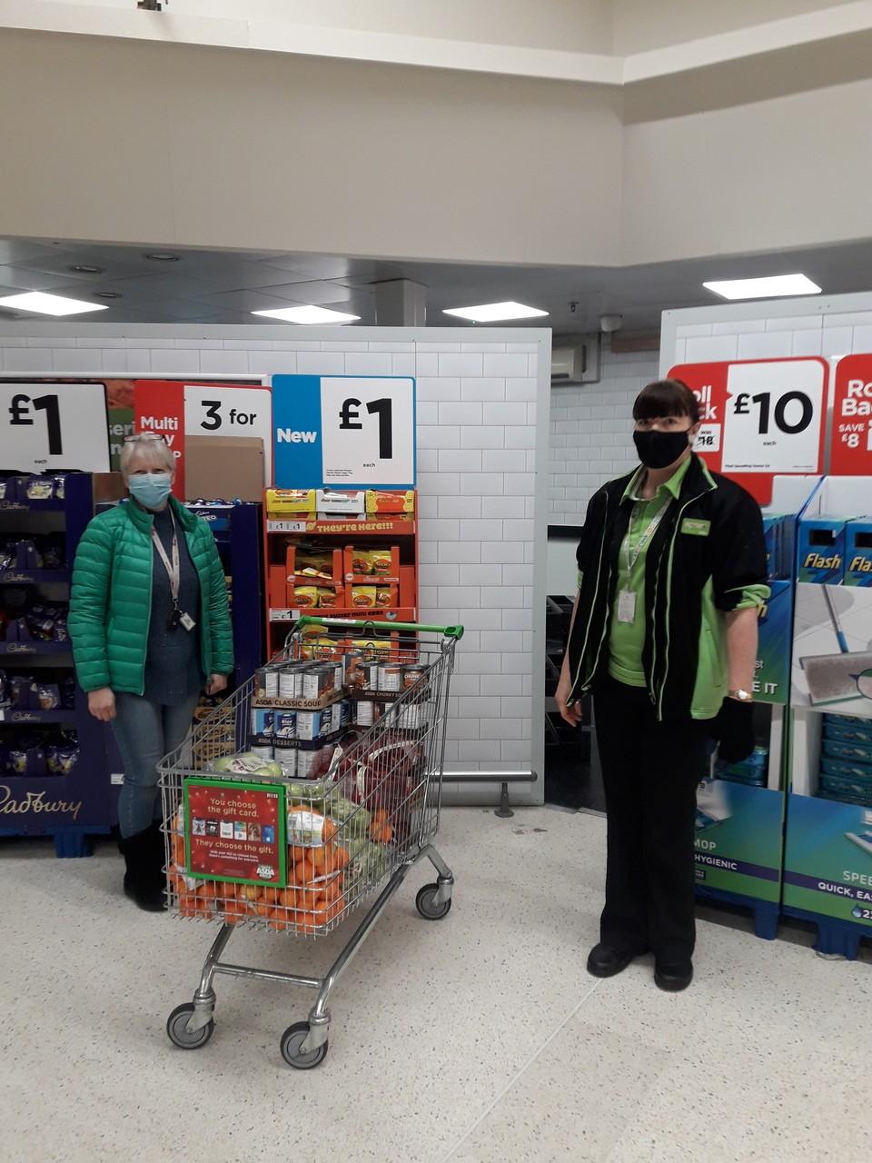 Donation to food charity | Asda Colne