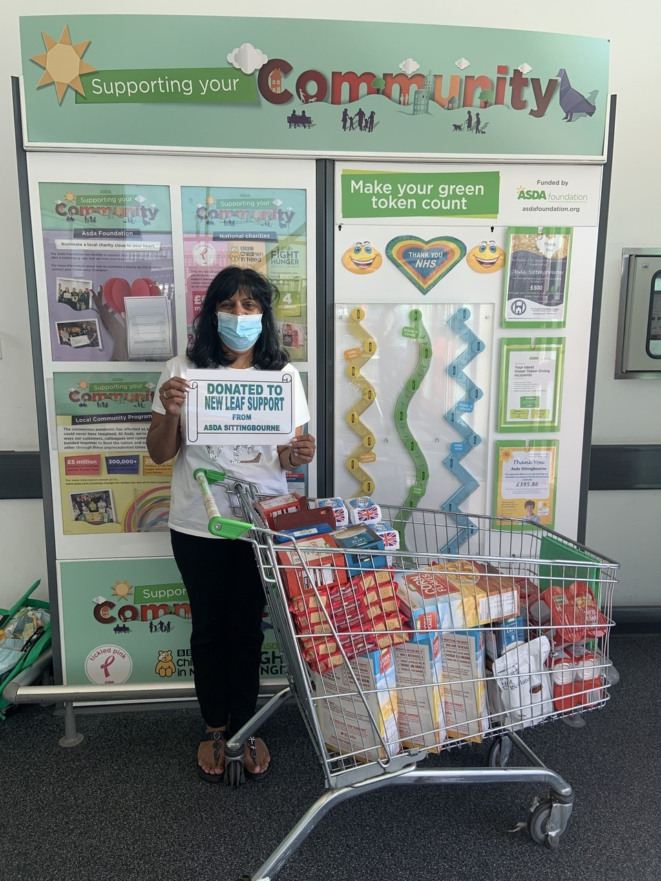 Food donation to New Leaf Support | Asda Sittingbourne