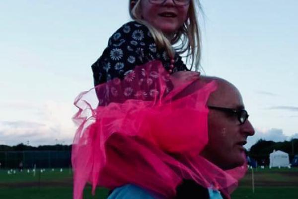Shaun and granddaughter Imogen before lockdown