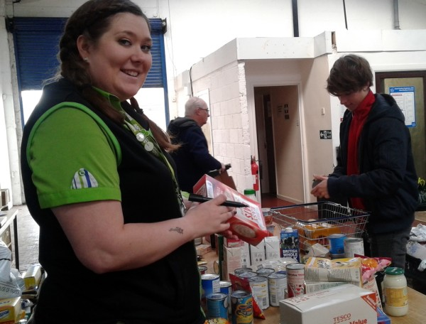 Asda Stockton community champion Michaela Palfreeman at Middlesbrough food bank