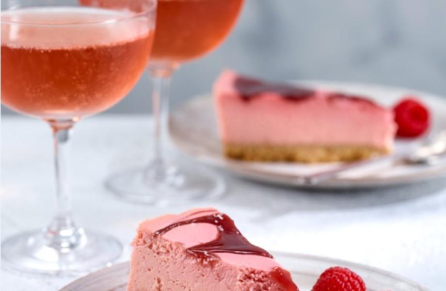 Pink gin cheesecake