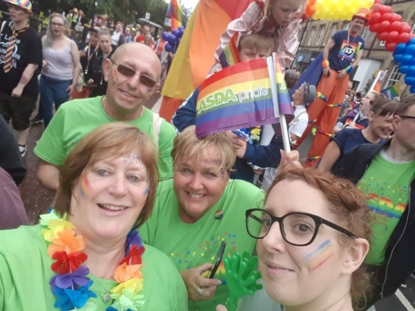 Asda colleagues from the North East support Newcastle Pride