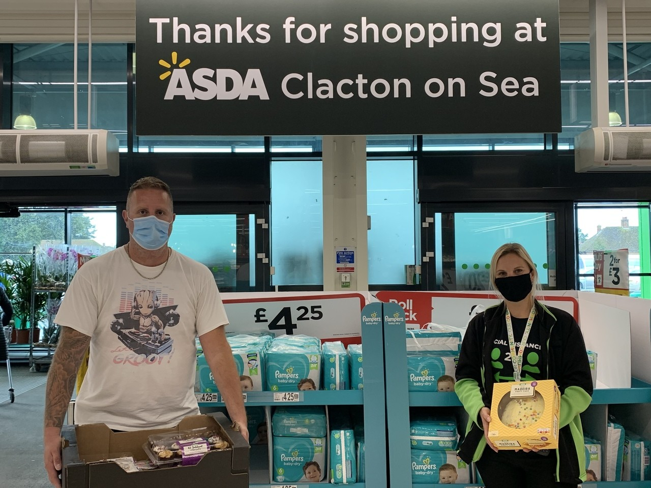 Birthday treats as John turns 102!   Asda Clacton-on-Sea
