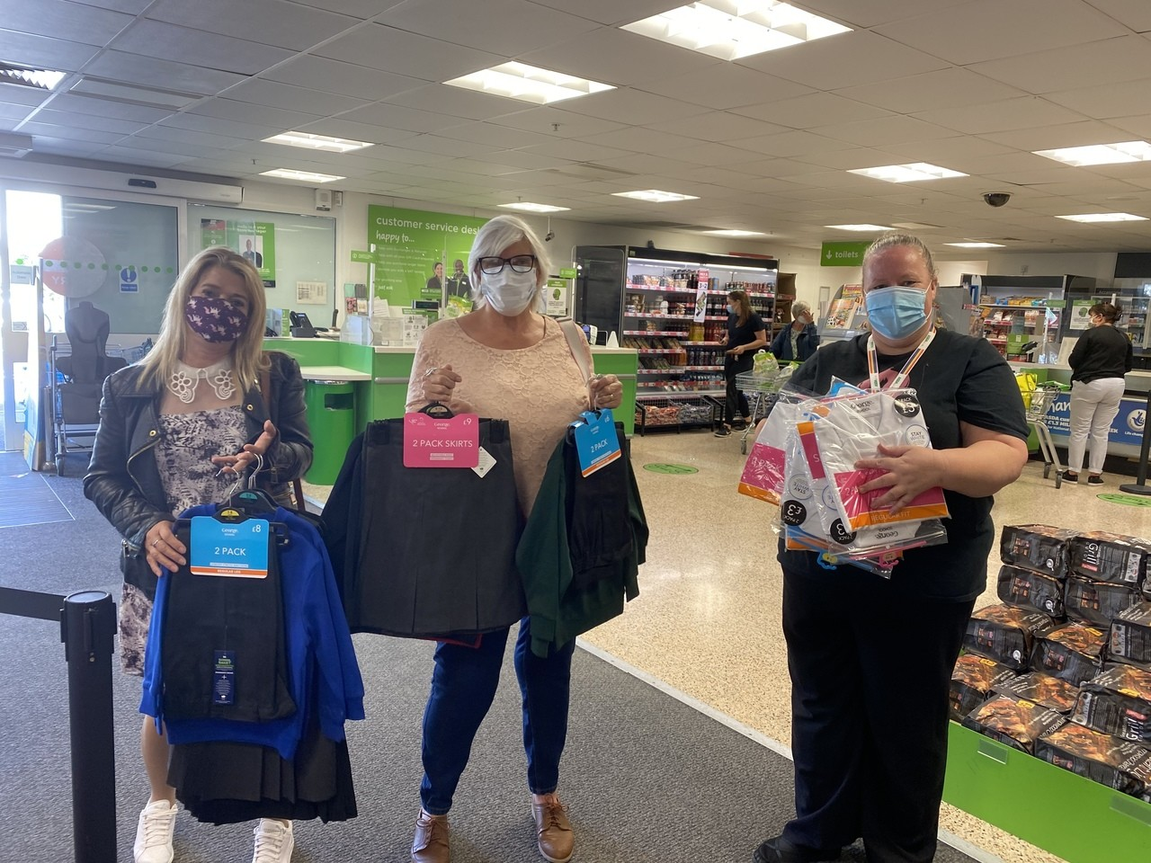 Donation to the School Uniform Project run at Jacobs Well Care Centre | Asda Gosport