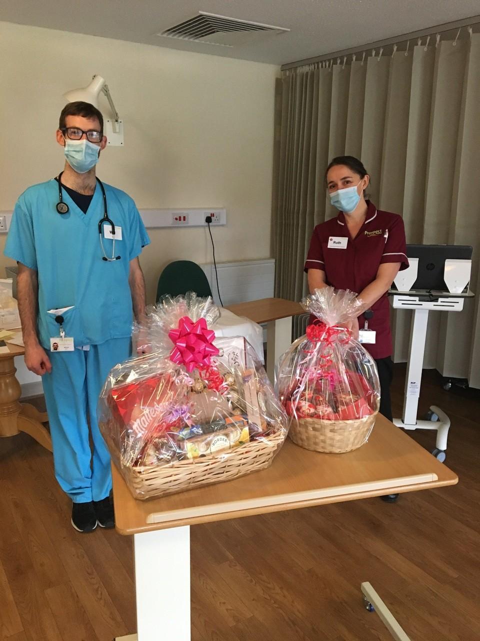 Valentines Hamper of Treats for local hospice | Asda Swindon Haydon