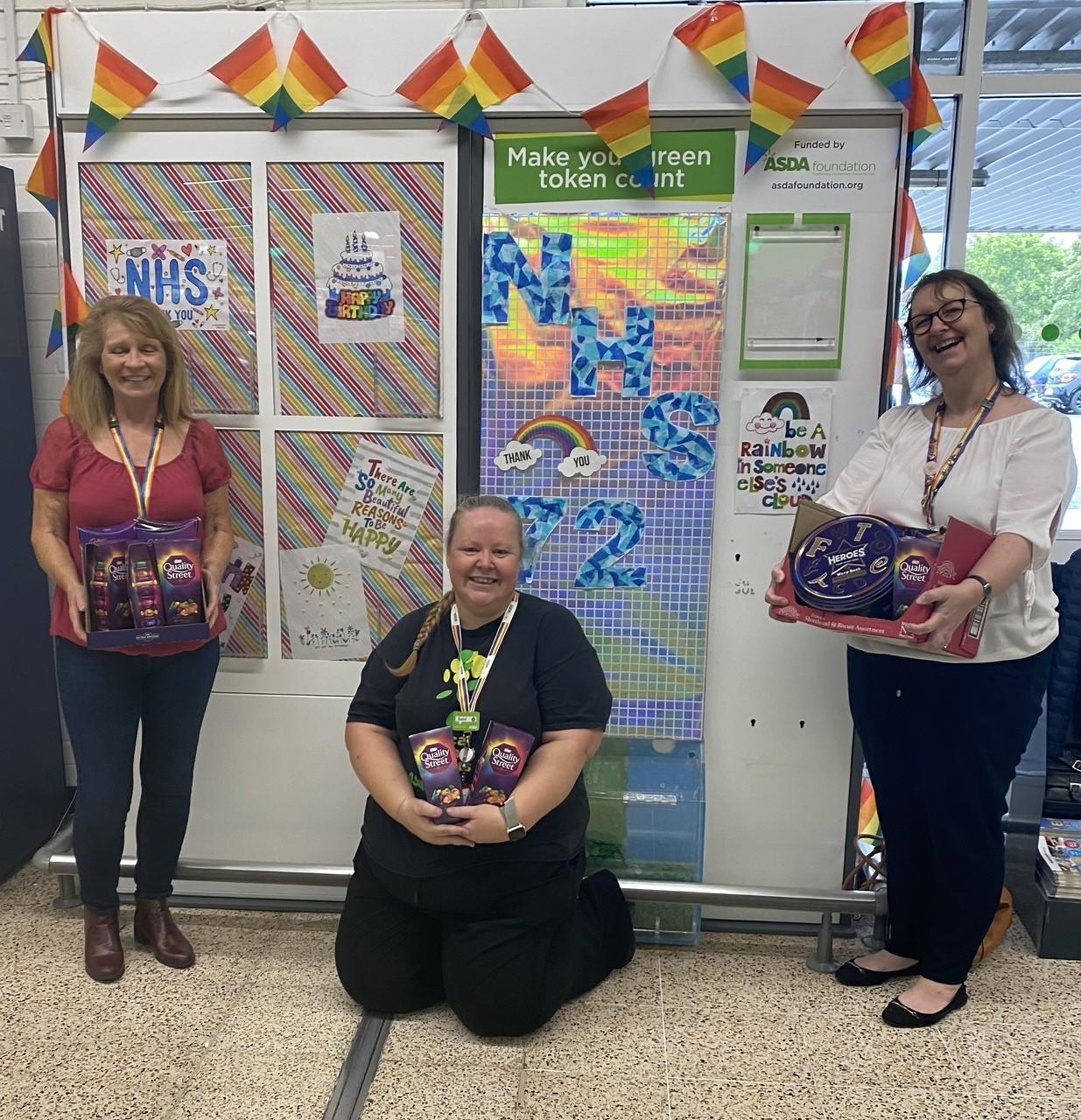 NHS birthday donation | Asda Gosport