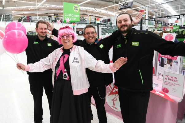 Christine with colleagues at Asda West Bridgford