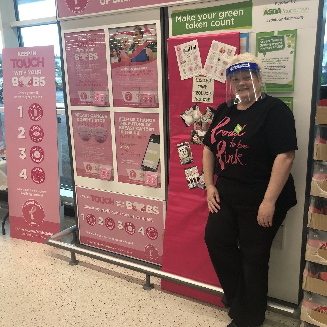 Tickled Pink support | Asda Portadown