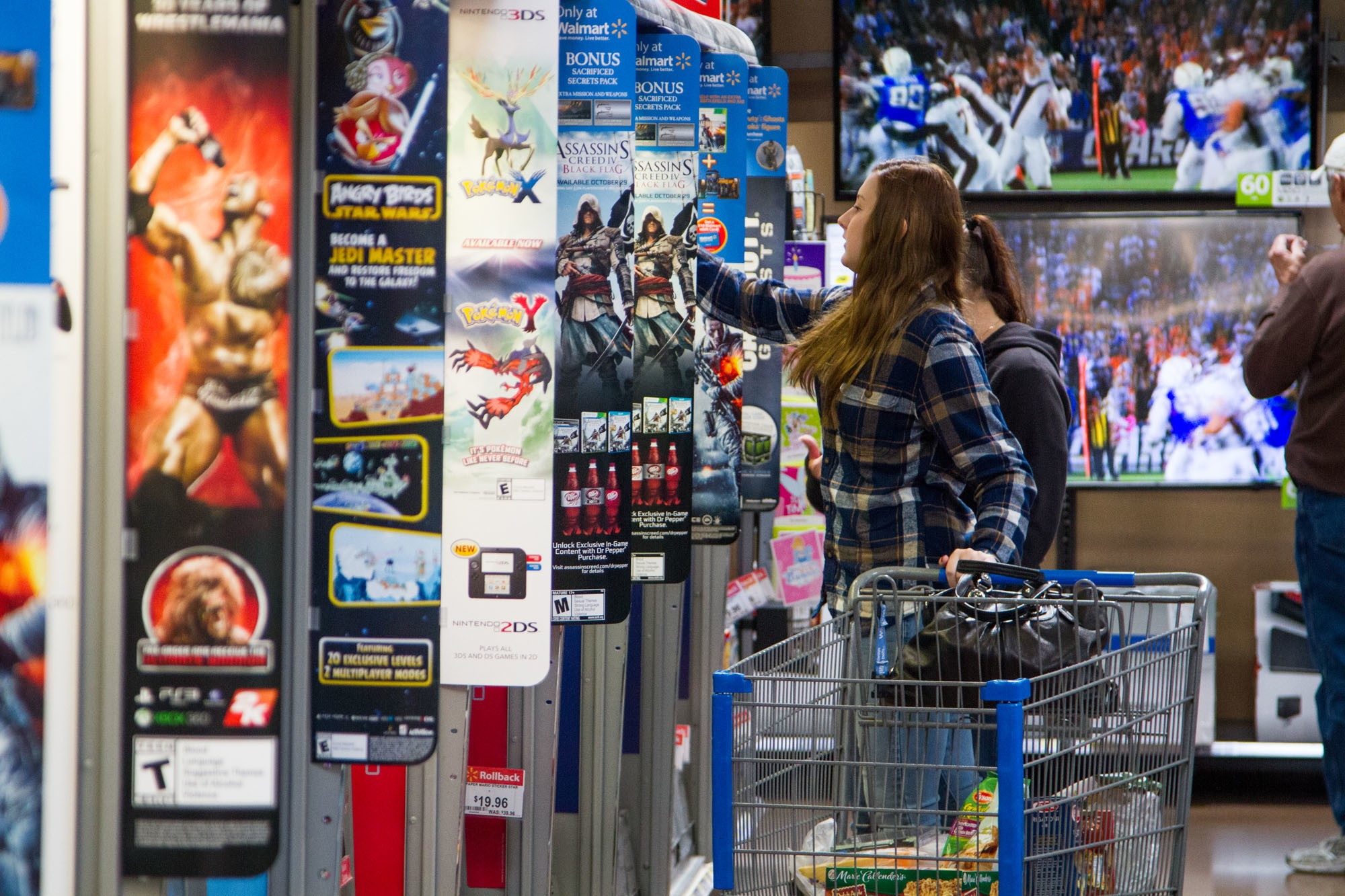 Walmart Customer Shops for Video Games