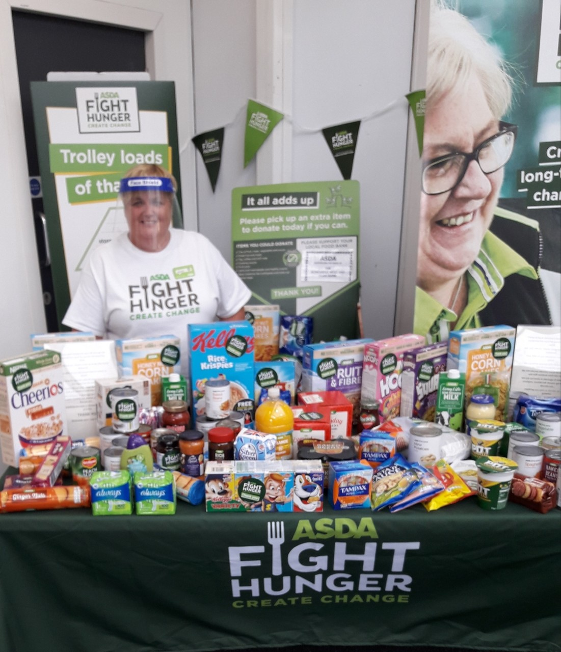 Chatting to customers about Fight Hunger Create Change | Asda Gosforth