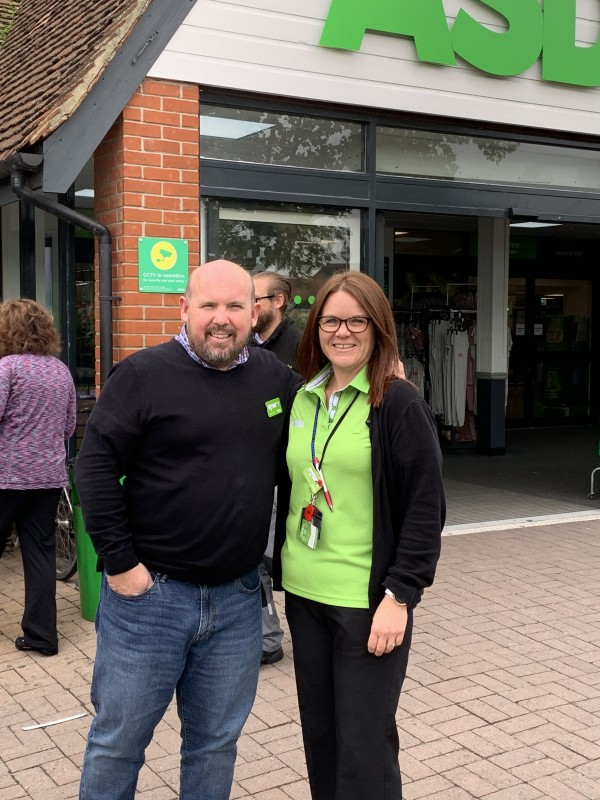 Laura Burton from Asda South Woodham Ferrers is training for the London Marathon