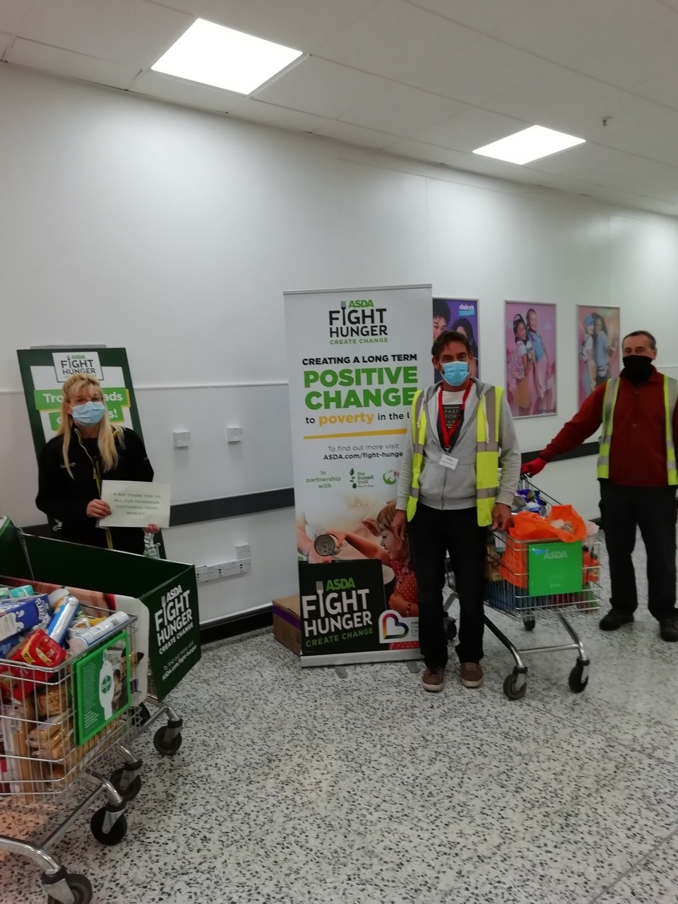 42 trolleys for Leeds South and East Foodbank | Asda Morley