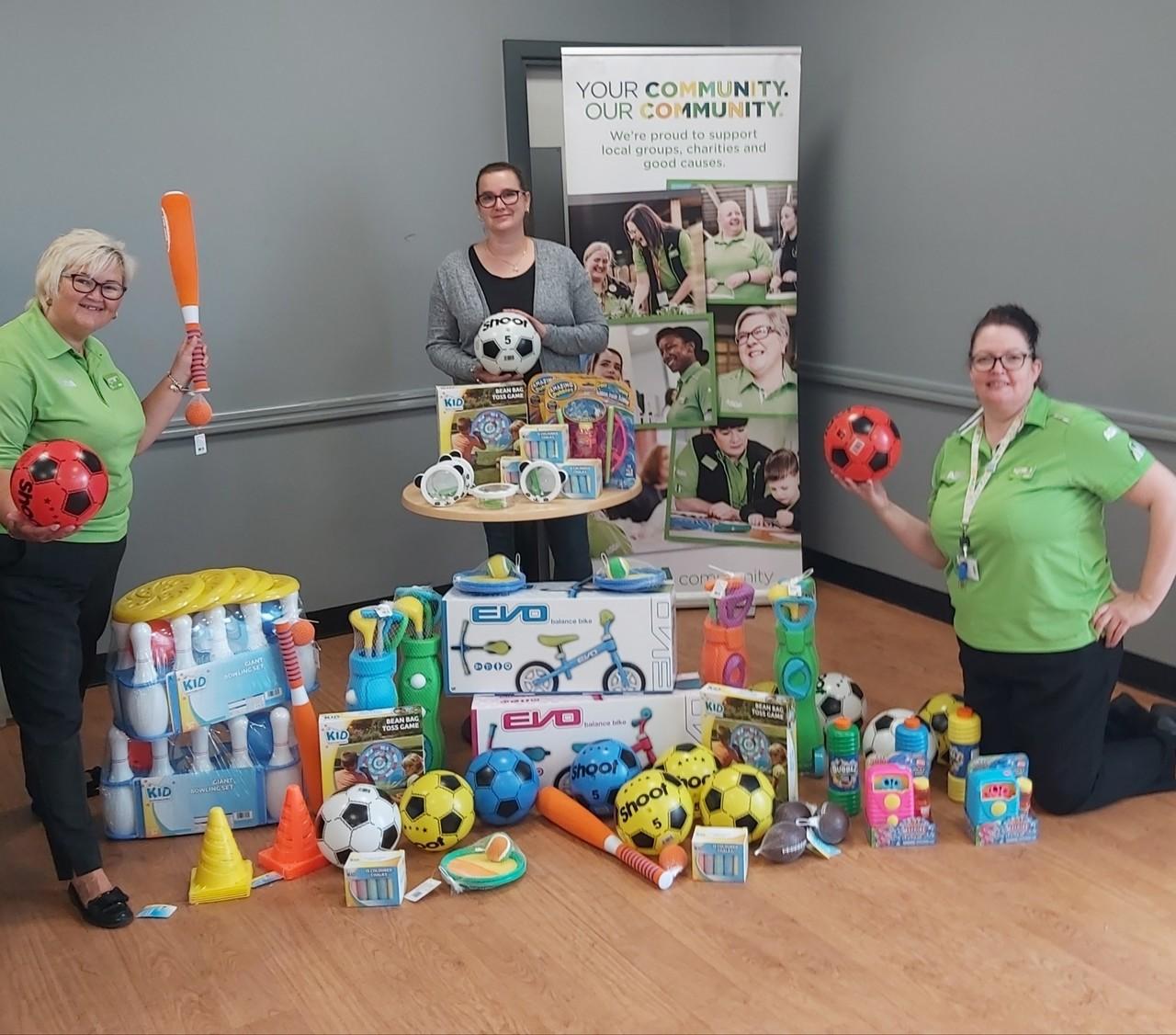 Teaming up with Asda Telford to help Halesfield Day Nursery | Asda Donnington Wood